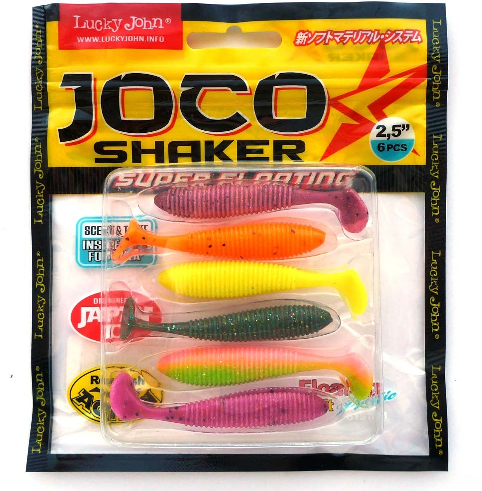 Виброхвост LJ Pro Joco Shaker, съедобная, 2.5in(06.35)/MIX1, 6 шт