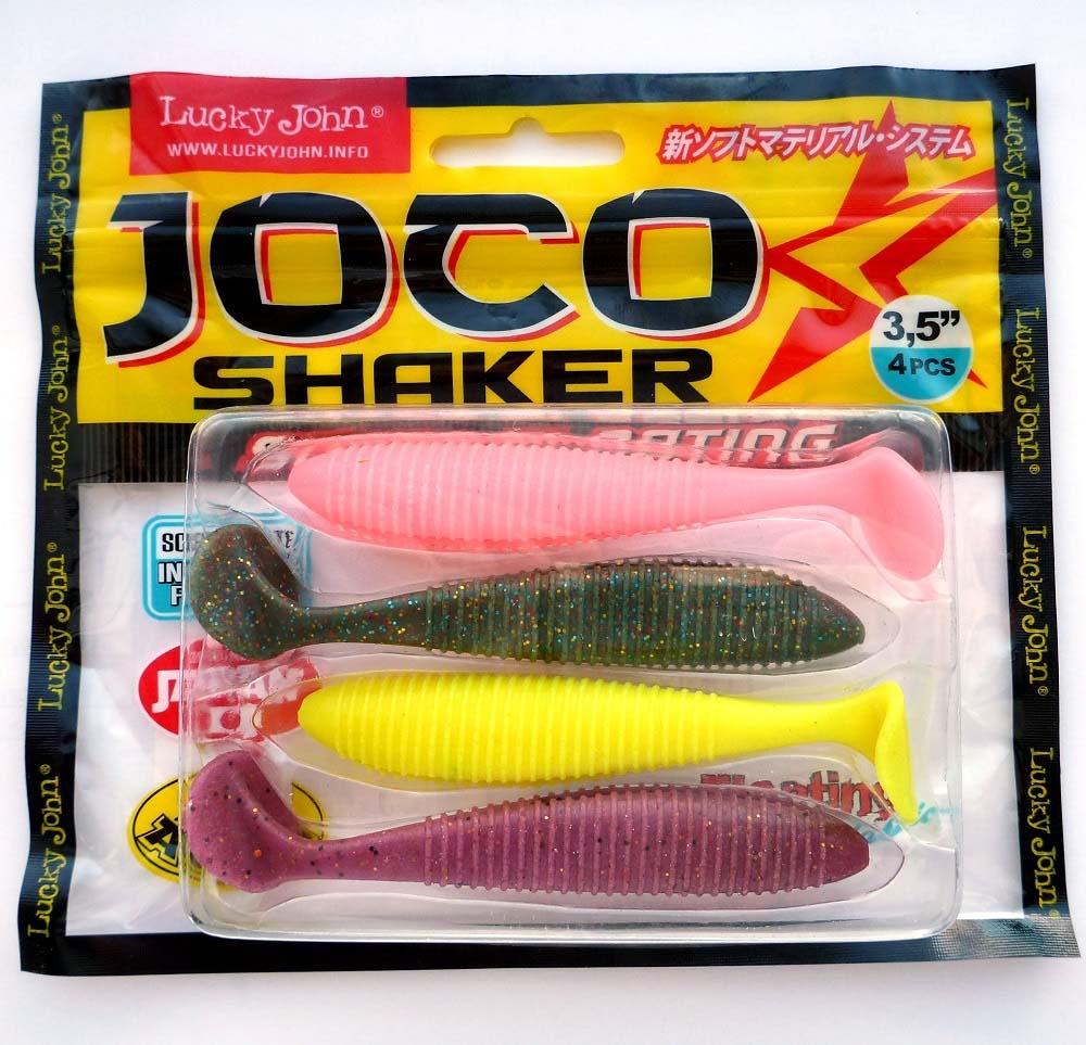 Виброхвост LJ Pro Joco Shaker, съедобная, 3.5in(08.89)/MIX1, 4 шт
