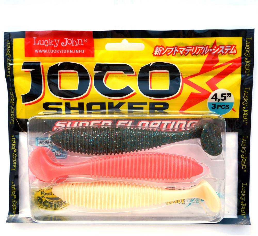 Виброхвост LJ Pro Joco Shaker, съедобная, 4.5in(11.43)/MIX1, 3 шт