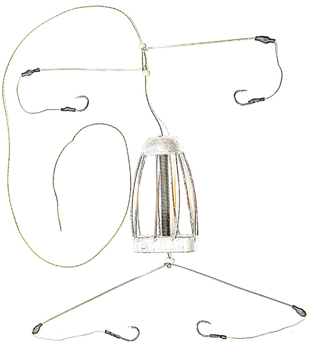 Кормушка для рыбы Монтаж ТК-4, оснащенная коромыслом и 2 отводами, 70 г кормушка пирс оснащенная донная 4 22 35гр несимм петля фидерная