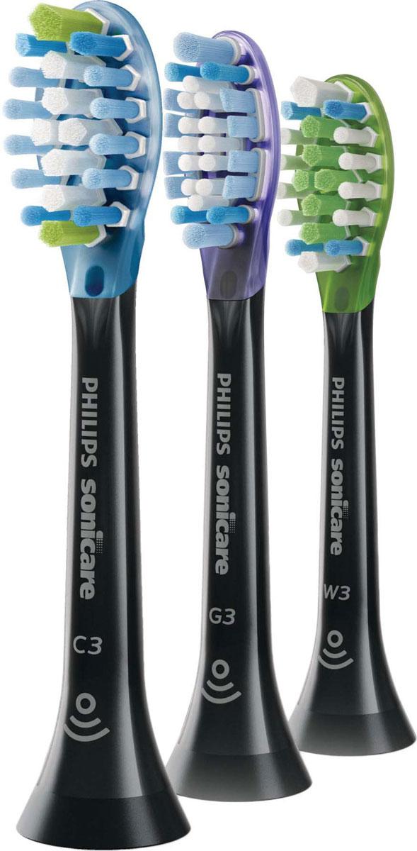 Набор насадок для электрической зубной щетки Philips Sonicare C3 Premium Plaque Control HX9073/33 с функцией BrushSync, 3 шт