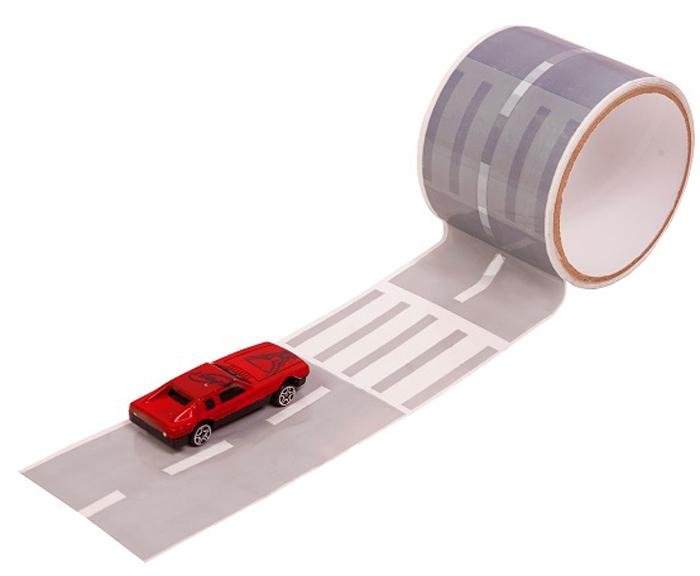 Игрушечный трек Умная дорога Игровой скотч-дорога с изображением трассы, влагостойкий автотрек умная дорога уд003 4603726949026