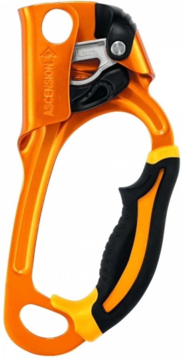 """Зажим альпинистский Petzl """"Ascension"""", цвет: оранжевый, черный"""