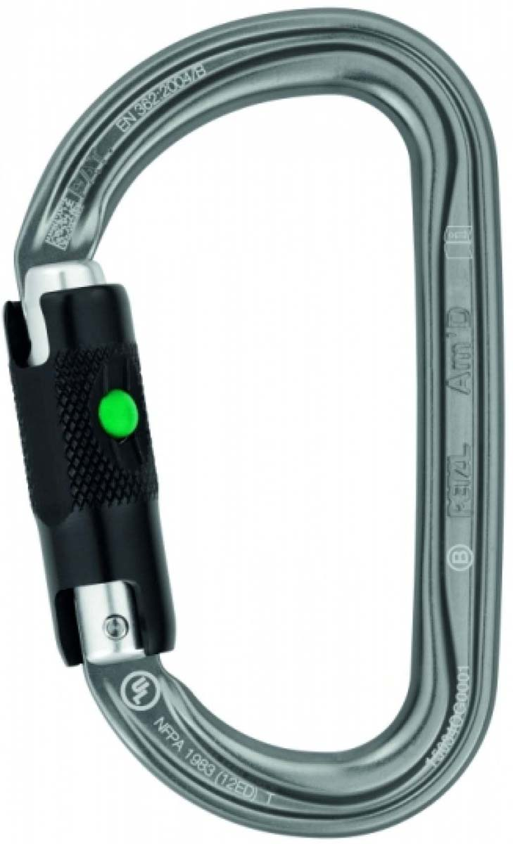 Карабин Petzl Am'D Ball-Lock, цвет: серый