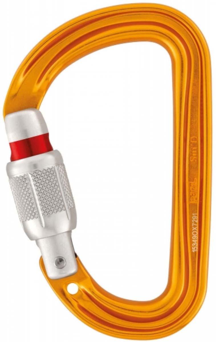 Карабин Petzl Sm'D Screw Lock, цвет: черный. M39A SL