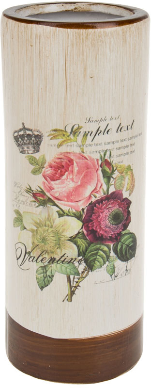 Ваза декоративная ArtHouse Куст розы, цвет: белый, мультиколор, высота 26 см. 60032 подушка 40х40 с полной запечаткой printio маугли