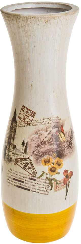 Ваза декоративная ArtHouse Биг Бен, цвет: белый, мультиколор, высота 14 см ваза декоративная arthouse шоколад цвет коричневый высота 29 5 см