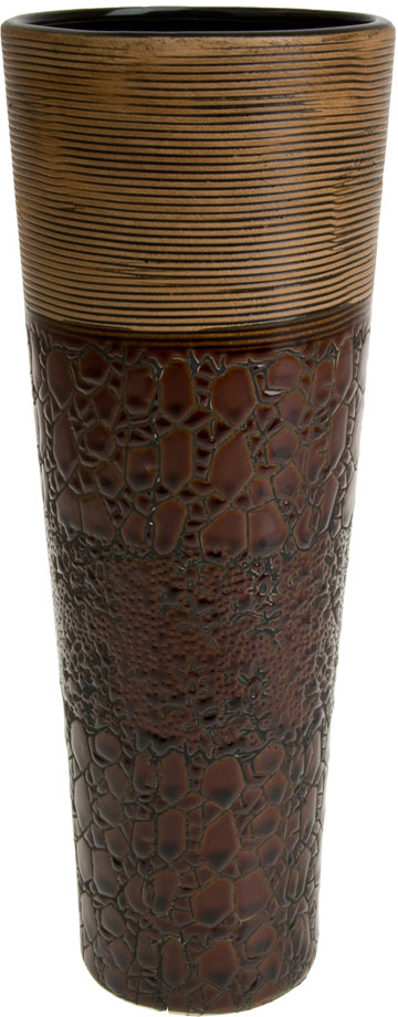 Ваза декоративная ArtHouse Шоколад, цвет: коричневый, высота 29,5 см ваза декоративная arthouse шоколад цвет коричневый высота 29 5 см