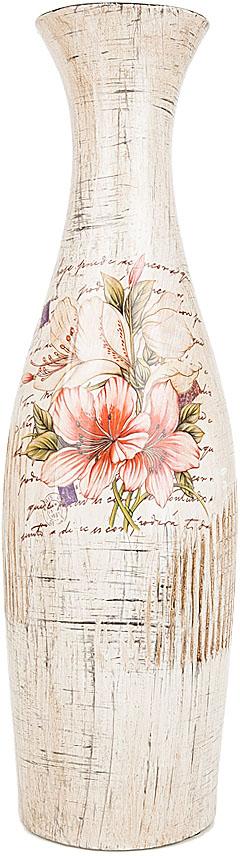 Ваза декоративная ENS Group Восточная лилия, цвет: белый, мультиколор, высота 38,5 см. 3020011 фигурка декоративная соблазн ens group фигурка декоративная соблазн