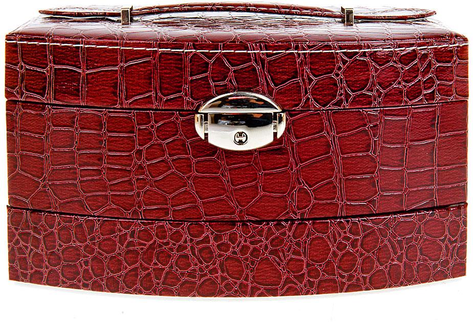 Шкатулка для ювелирных украшений ENS Group Стиль, цвет: красный, 21,5 х 15,5 х 13 см шкатулка для ювелирных украшений ens group амуры цвет коричневый 19 5 х 15 х 10 см