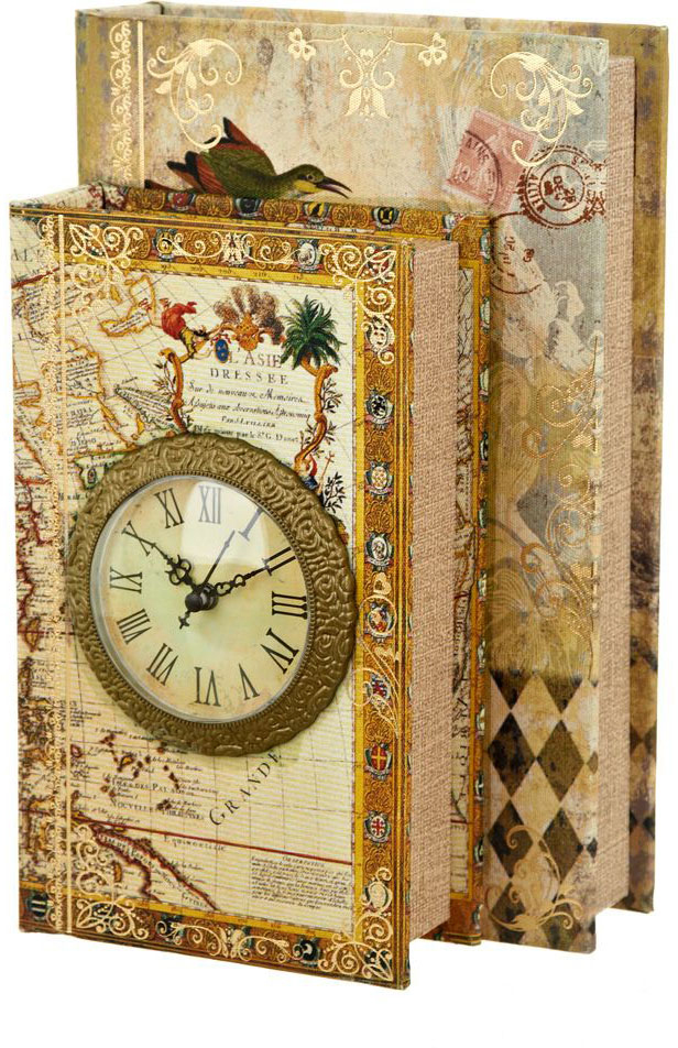 Шкатулка с часами ENS Group Дуэт, цвет: коричневый, 26 х 17 х 11,5 см шкатулка декоративная ens group чайная роза 23 5 х 18 5 х 8 см