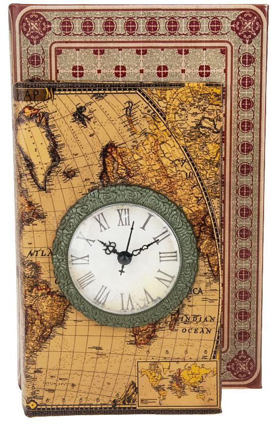 Шкатулка с часами ENS Group Дуэт, цвет: коричневый, 26 х 17,5 х 10 см шкатулка для ювелирных украшений ens group амуры цвет коричневый 19 5 х 15 х 10 см