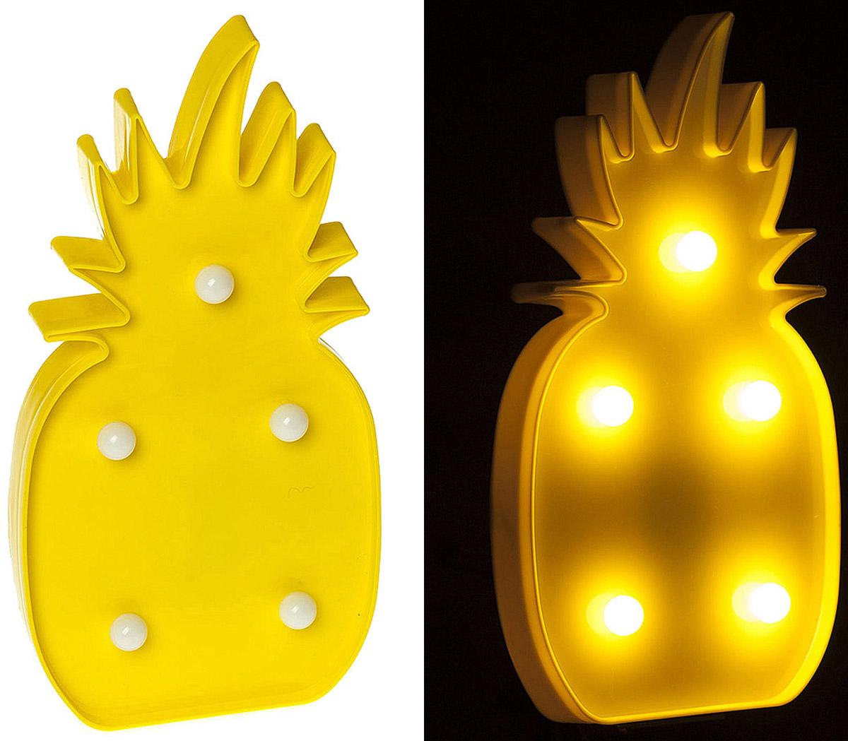 """Светильник Planet Garden """"Ананас"""", 25 см, 5 ламп, цвет: желтый"""