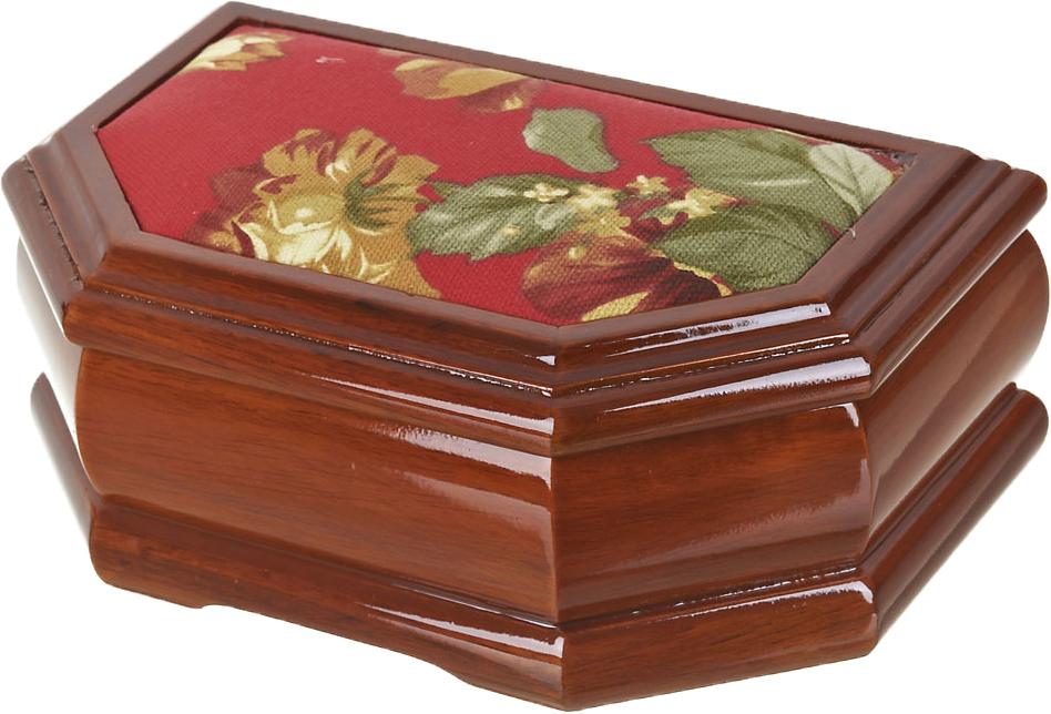 """Шкатулка для ювелирных украшений ArtHouse """"Цветочная поляна"""", цвет: коричневый, 20 х 13 х 8,5 см"""