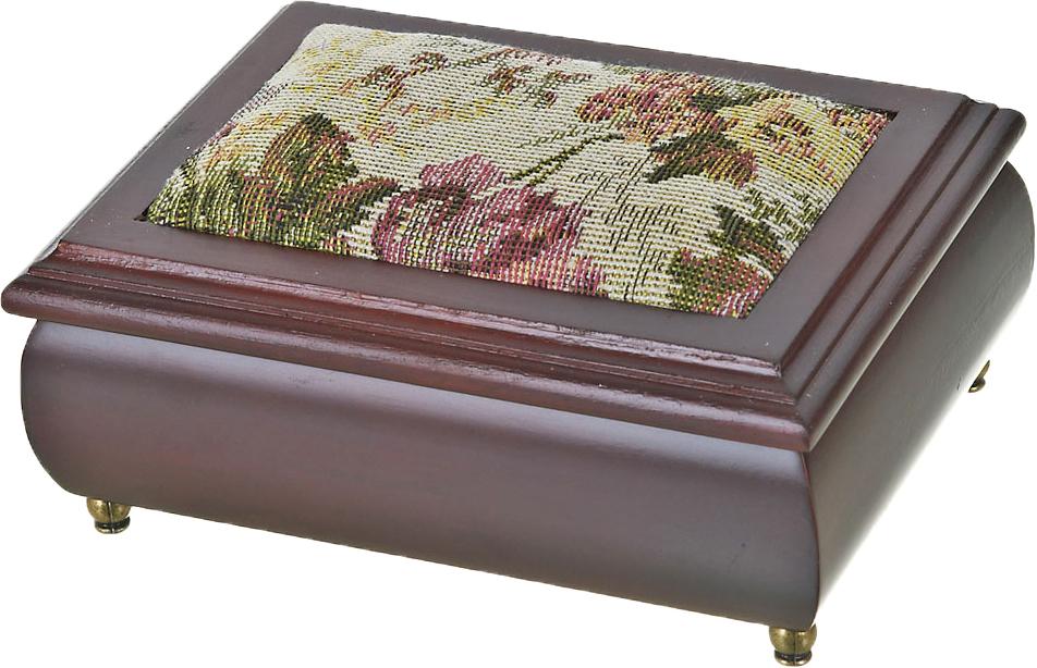 Шкатулка для ювелирных украшений ArtHouse Цветочная поляна, цвет: коричневый, 17 х 12,5 х 8 см шкатулка для ювелирных украшений ens group амуры цвет коричневый 19 5 х 15 х 10 см