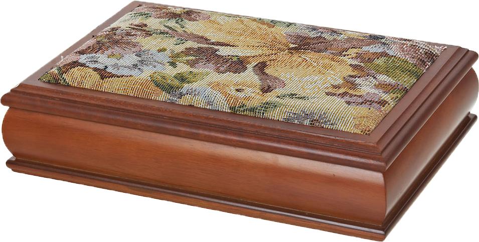"""Шкатулка для ювелирных украшений ArtHouse """"Цветочная поляна"""", цвет: коричневый, 30,5 х 20 х 8 см"""
