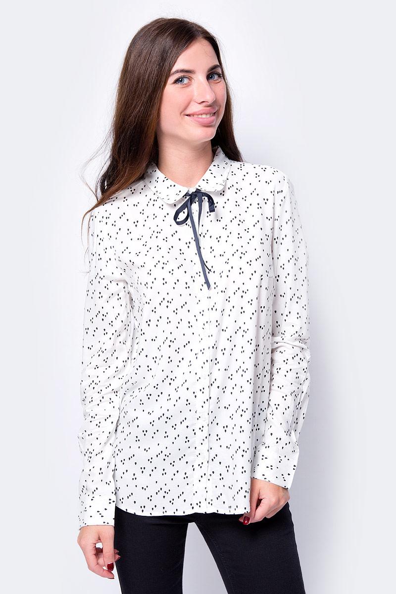 Блузка Sela блузка женская sela цвет кипенно белый b 112 510 8340 размер 46