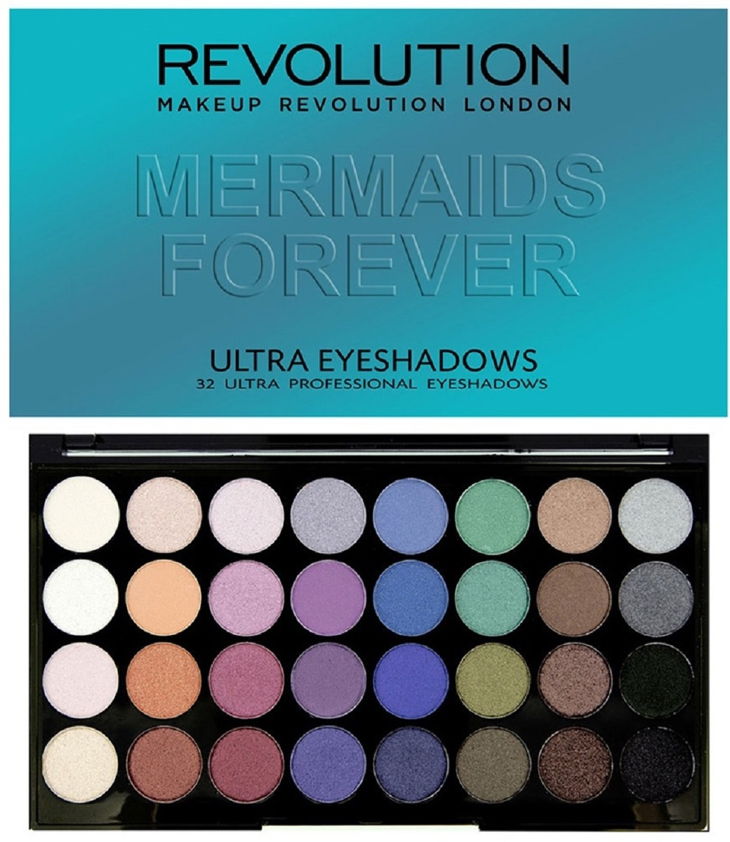 Makeup Revolution Палетка теней 32 Ultra Eyeshadows Mermaids Forever makeup revolution набор из 30 теней 30 eyeshadow palette fortune favours the brave