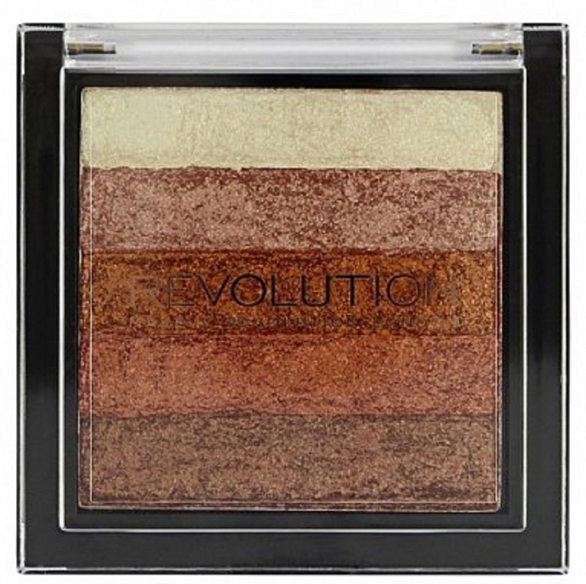 Makeup Revolution Хайлайтер Vivid Shimmer Brick Rose Gold хайлайтер ultra strobe and light makeup revolution лицо