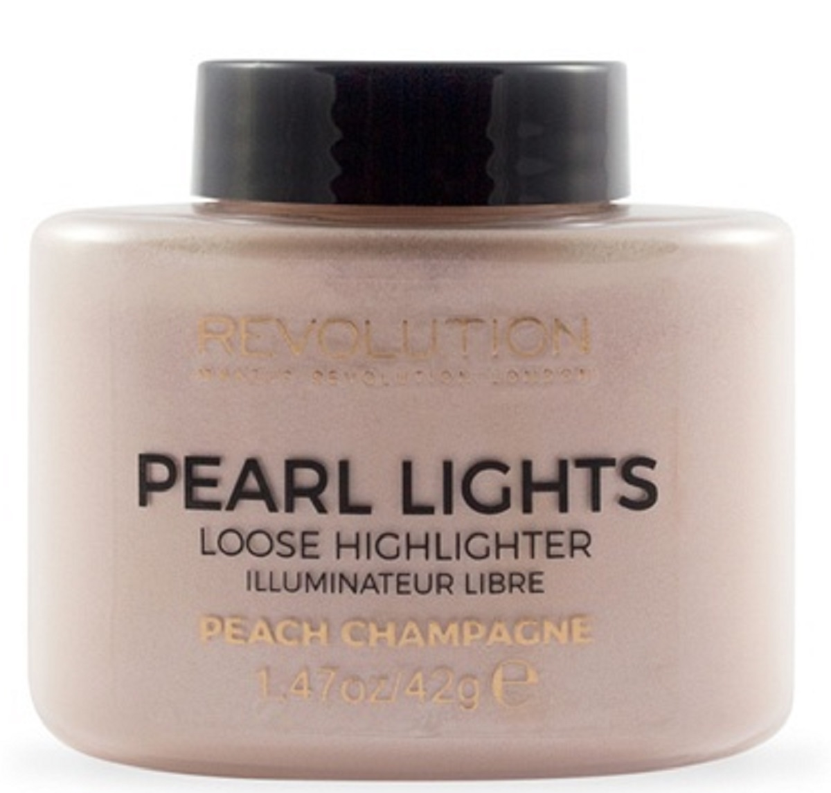 Makeup Revolution Рассыпчатый хайлайтер Pearl Lights Loose Highlighter Peach Champagne