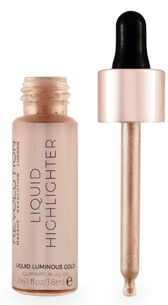 Makeup Revolutionжидкий хайлайтер Liquid Highlighter Liquid Luminous Gold