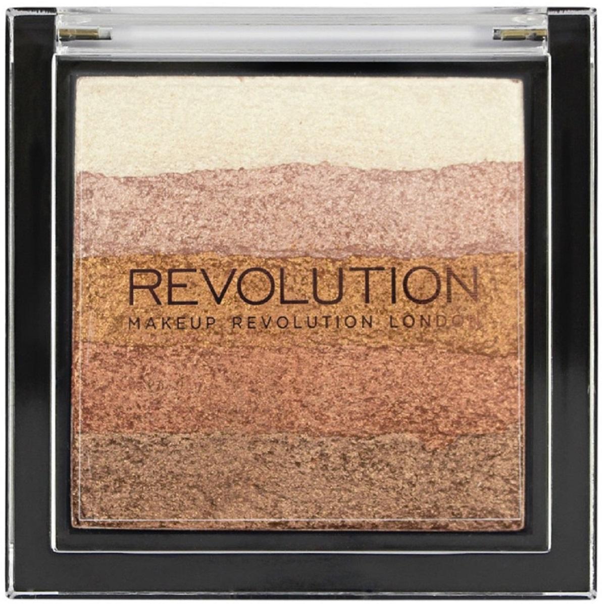 Makeup Revolution Хайлайтер Vivid Shimmer Brick Bronze Kiss хайлайтер ultra strobe and light makeup revolution лицо