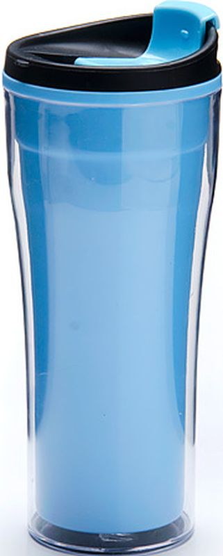 Фляга Mayer & Boch, 390 мл. 27108, цвет: голубой, 390 мл