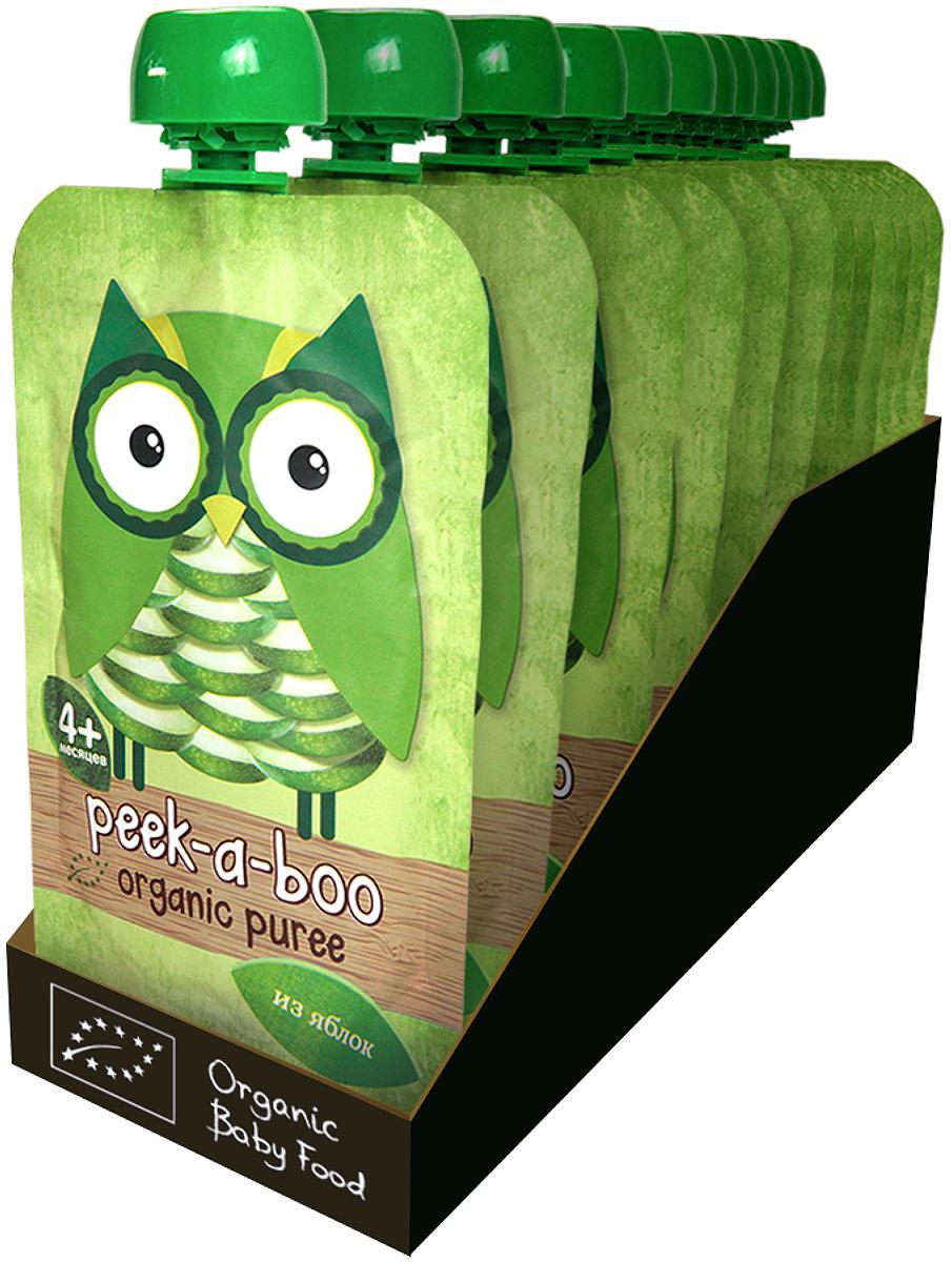Пюре Peek-a-boo органическое яблоко с 4 месяцев, 12 шт по 113 г