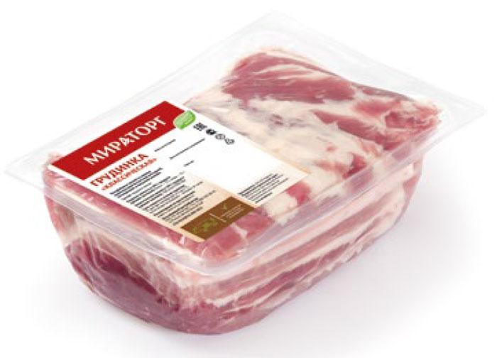 Грудинка Классическая бескостная свиная Мираторг, 850 г
