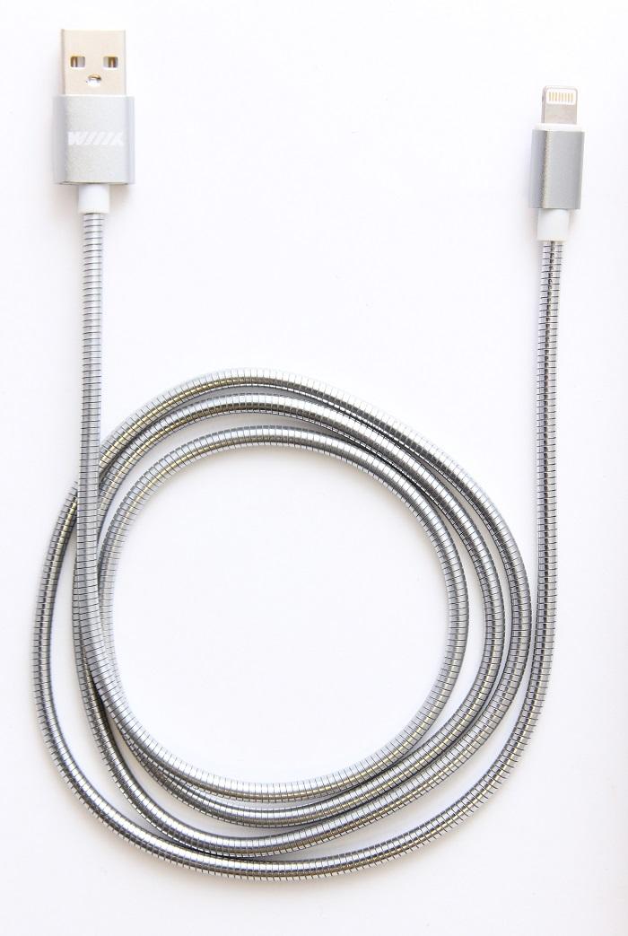 Кабель-переходник Wiiix, USB-Lightning, цвет6 серебсритый, 1 м переходник универсальный д путешествий 5 насадок