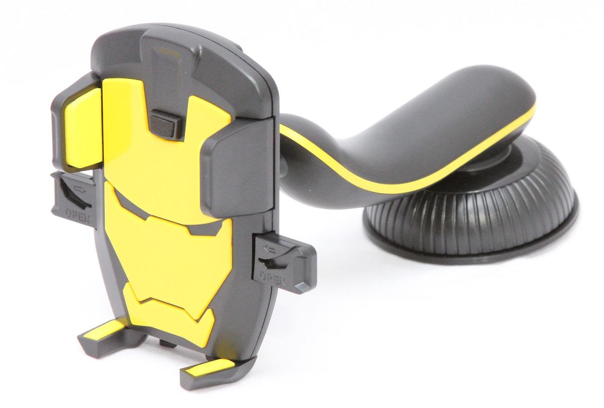 Автомобильный держатель Wiiix, для спорткаров, цвет: желтый автомобильный держатель wiiix kds 2 для планшетов крепление на стекло черный