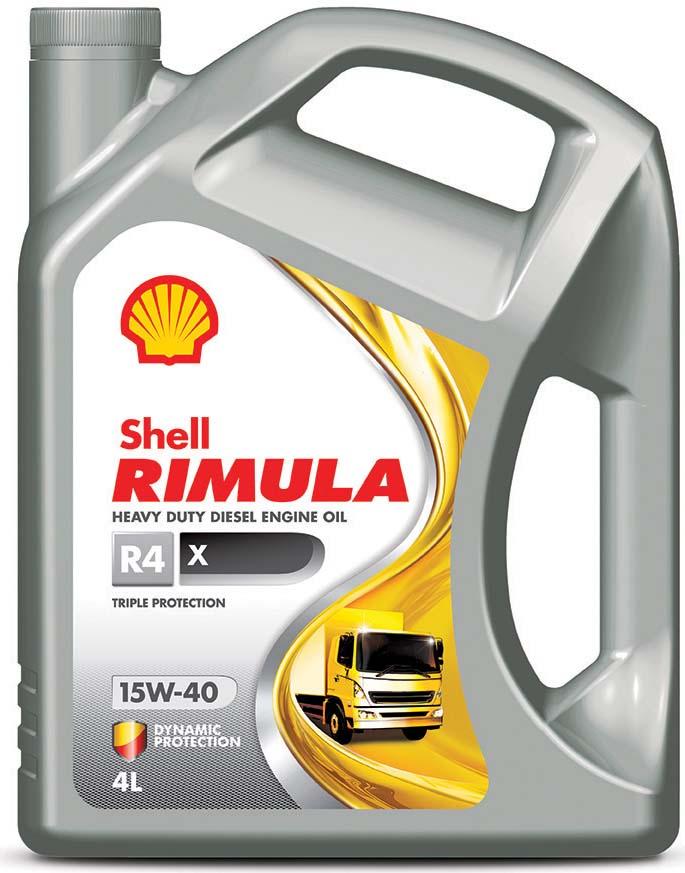 Масло моторное Shell Rimula R4 X для дизельных двигателей, 15W-40, минеральное, 4 л