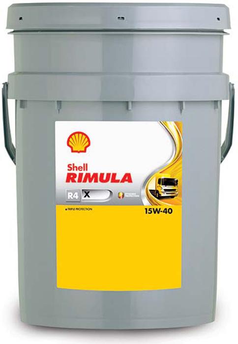 Масло моторное Shell Rimula R4 X для дизельных двигателей, 15W-40, минеральное, 20 л