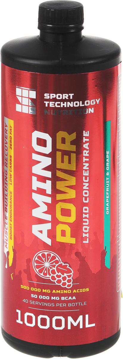 Аминокислоты Sport Technology Nutrition Amino Power, концентрированный, грейпфрут, виноград, 1 л