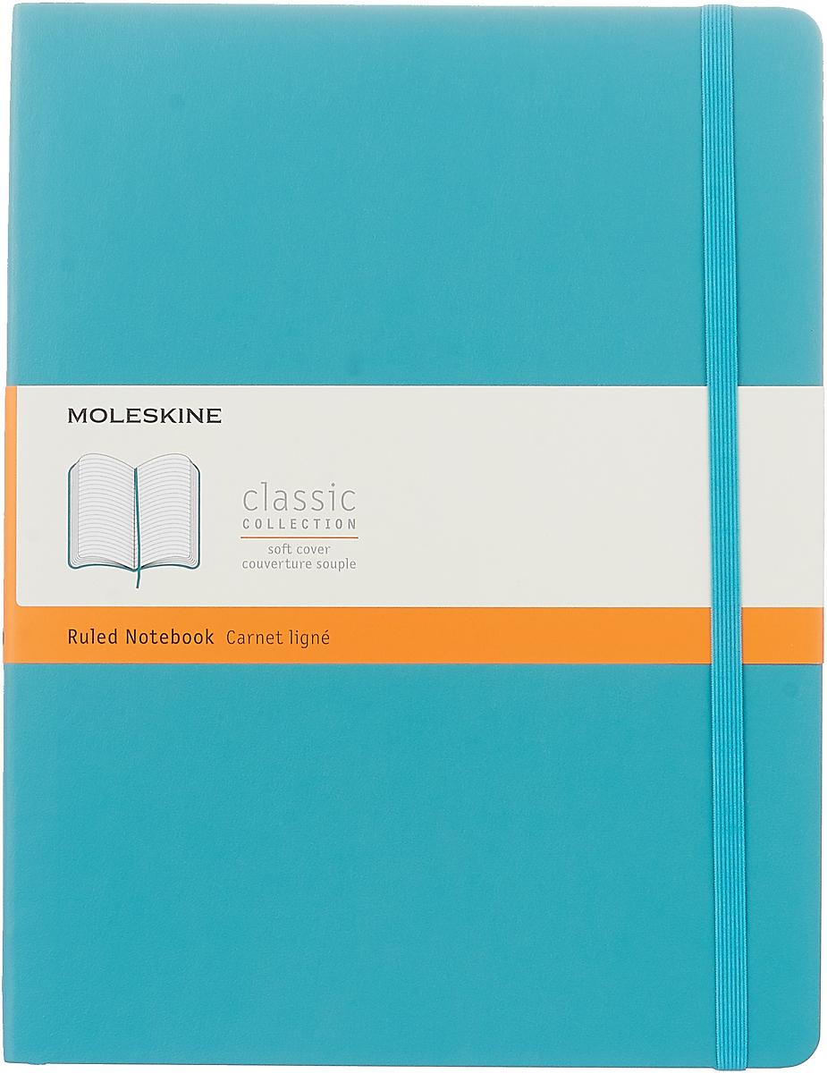 Moleskine Блокнот Classic Soft 19 x 25 см 96 листов в линейку цвет голубой