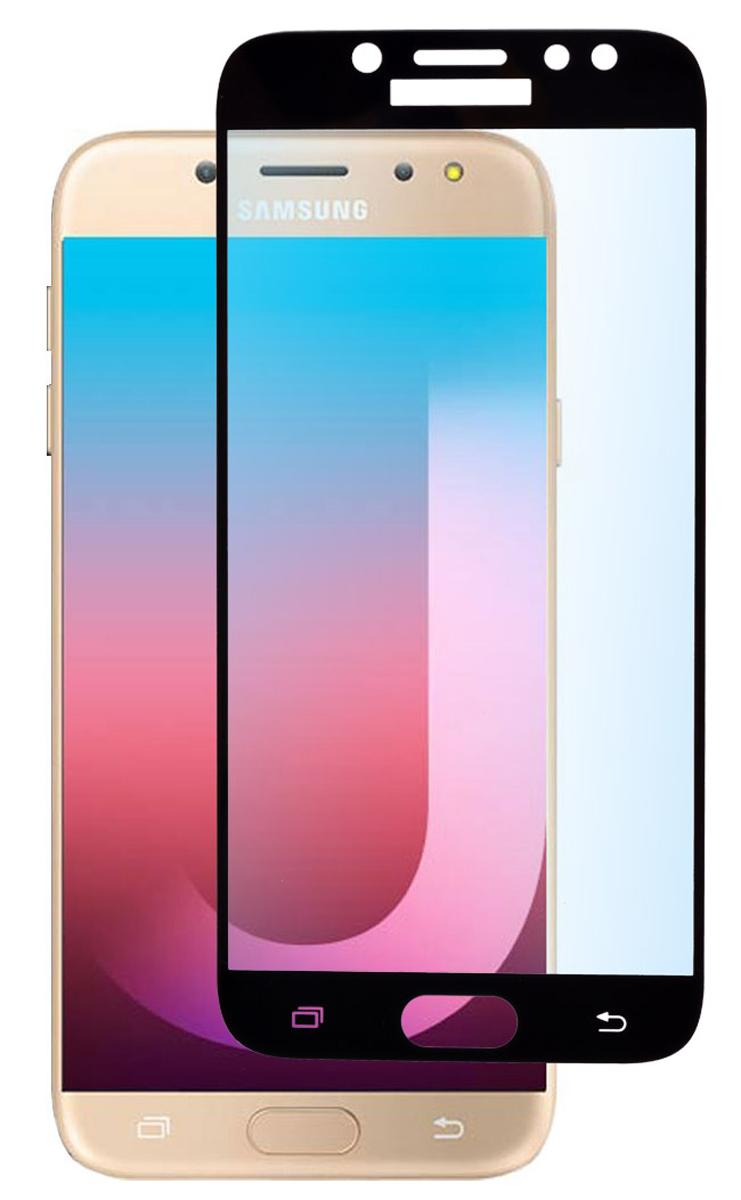 Защитное стекло Skinbox Full Screen для Samsung Galaxy J7 Pro, Black аксессуар защитное стекло для samsung galaxy j7 2017 mobius 3d full cover black