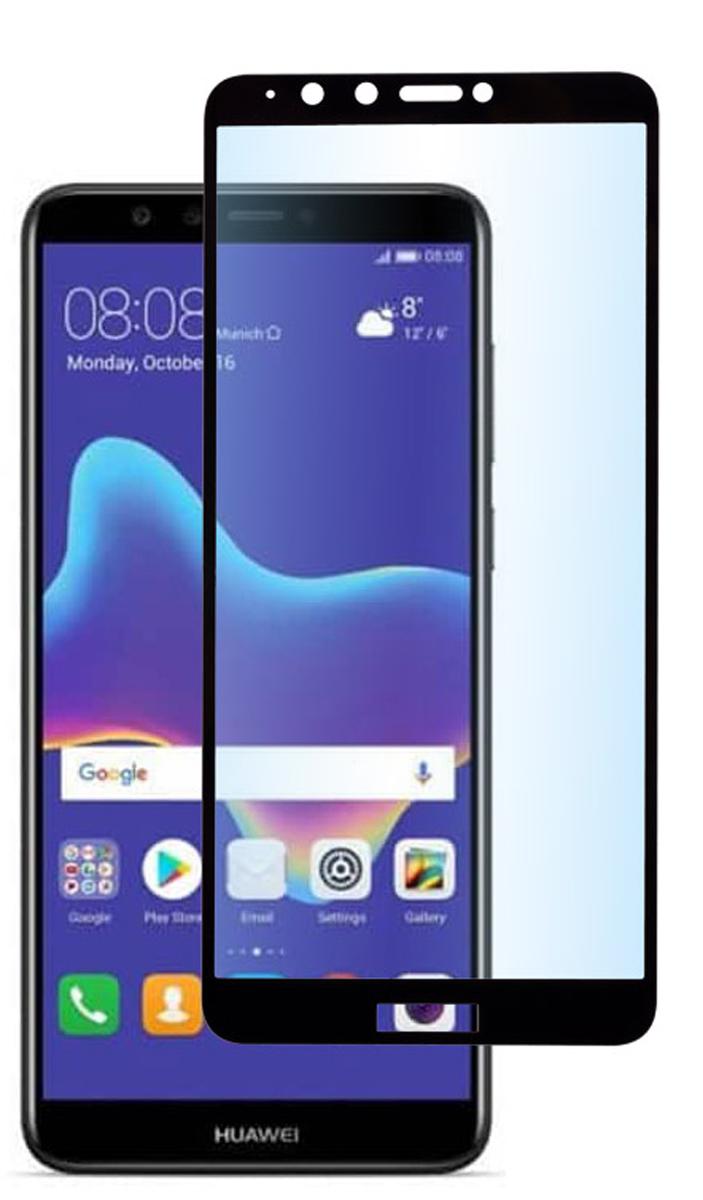 Skinbox Full Screen защитное стекло для Huawei Y9 (2018), Black аксессуар защитное стекло для huawei p smart plus media gadget 2 5d full cover glass black frame mgfchpspbk