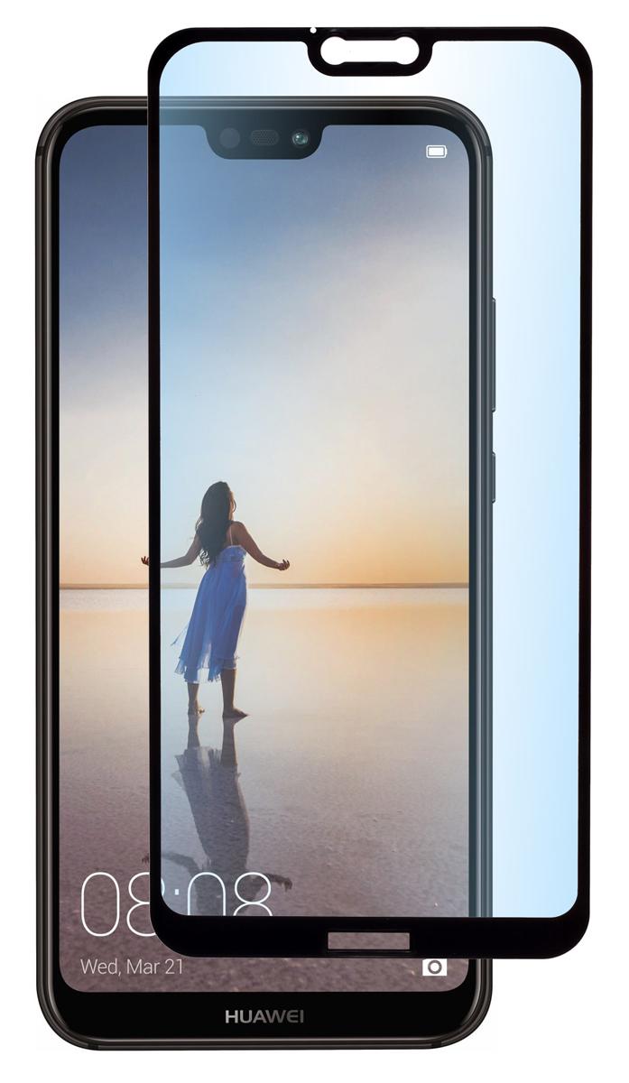 Skinbox Full Screen защитное стекло для Huawei P20 Lite, Black аксессуар защитное стекло для huawei p20 lite red line full screen tempered glass blue ут000015080