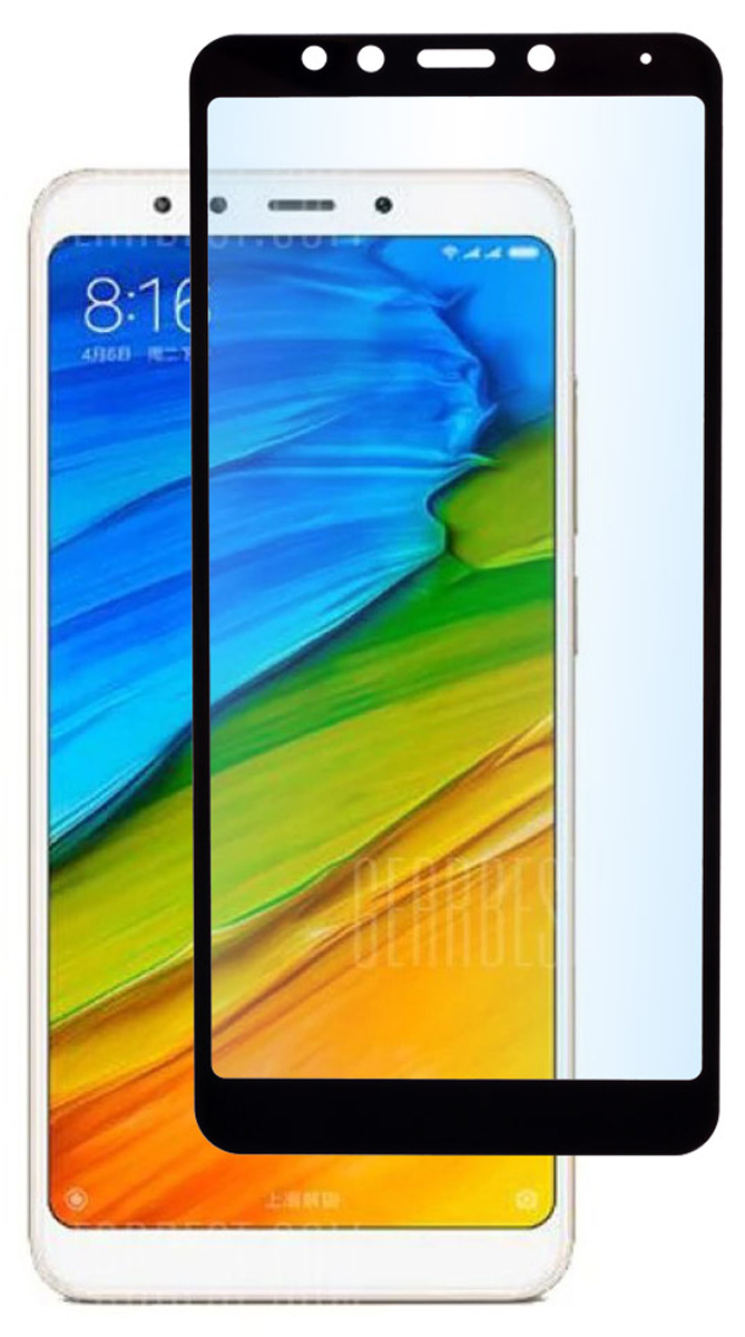 Skinbox Full Screen защитное стекло для Xiaomi Redmi 5, Black защитное стекло xiaomi redmi note 4 full screen 3d black