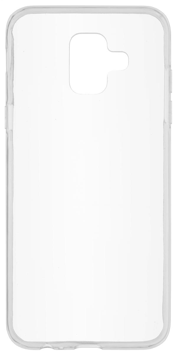Skinbox Slim Silicone чехол для Samsung Galaxy A6 (2018), Transparent skinbox накладка skinbox slim silicone для samsung galaxy note 7