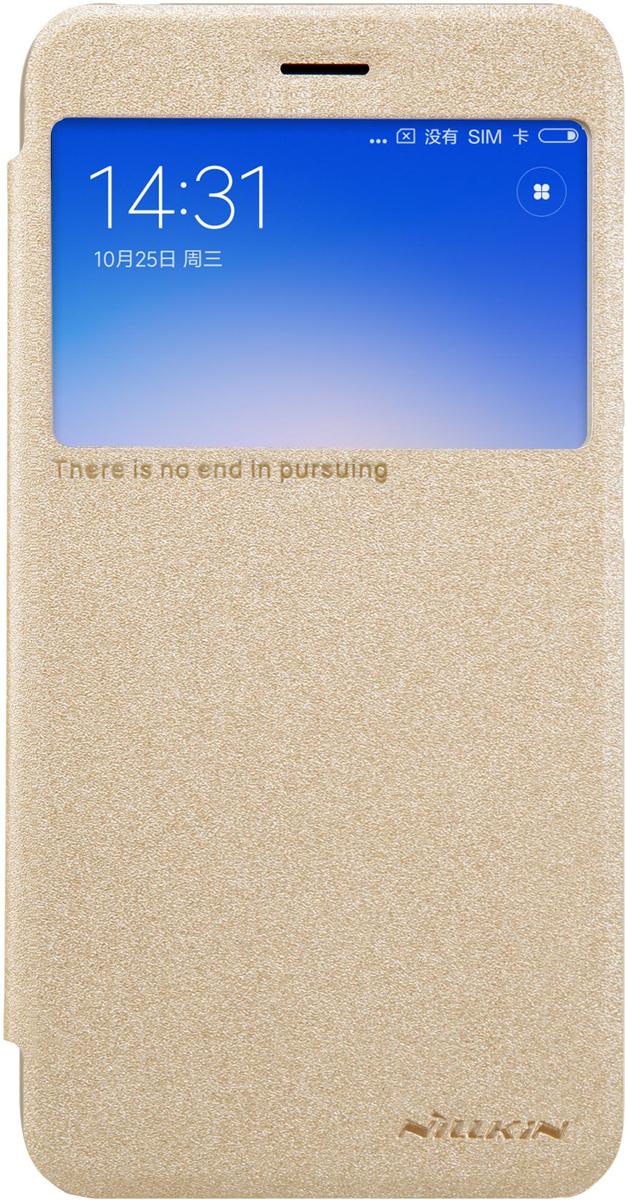 Чехол Nillkin Sparkle Leather Case для Xiaomi RedMi 5A, Gold чехол книжка nillkin sparkle для xiaomi redmi note 5a prime gold