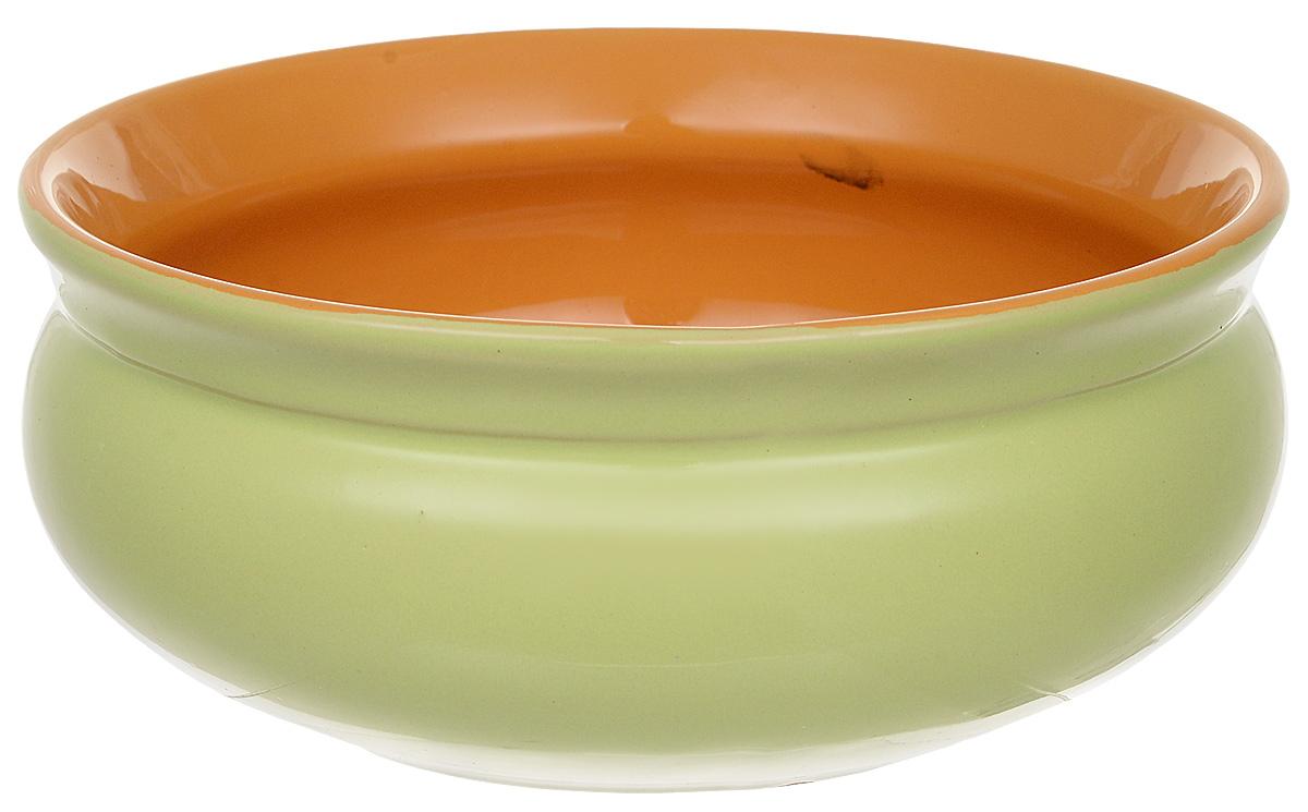 Тарелка глубокая Борисовская керамика Скифская, цвет: салатовый, желтый, 500 мл тарелка глубокая борисовская керамика скифская цвет салатовый желтый 500 мл