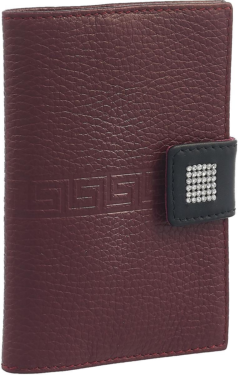 Обложка для паспорта женская Dimanche Parfum, цвет: бордовый. 840/1 обложка для паспорта женская paulo villar цвет бордовый 00057539