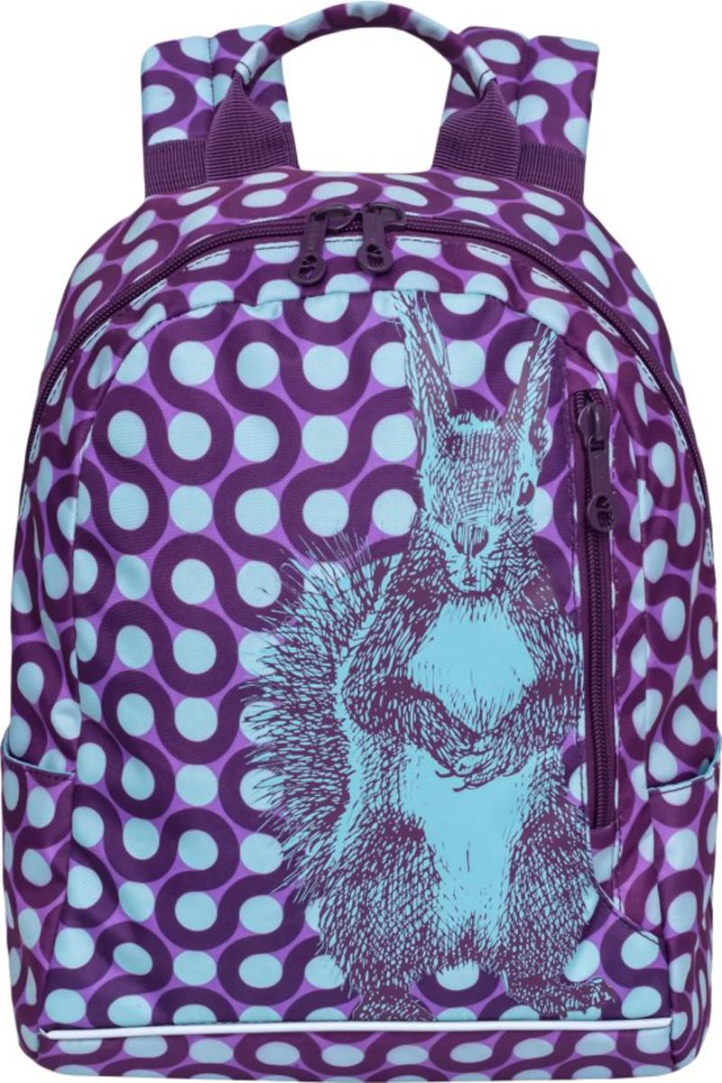 Рюкзак Grizzly, цвет: фиолетовый. RD-830-2/1 бабочка churchill accessories churchill accessories mp002xm0qusg