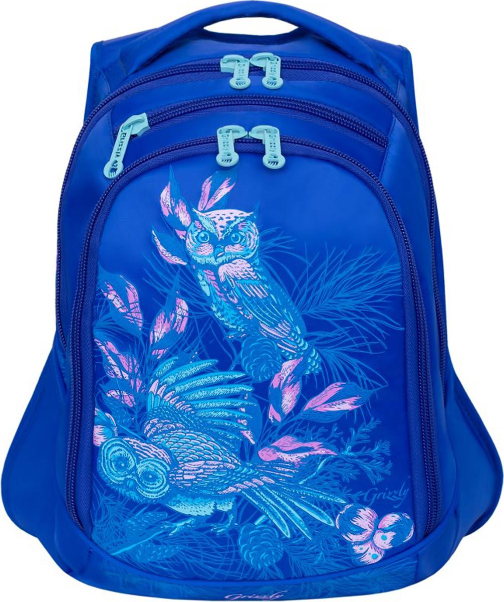 Рюкзак Grizzly, цвет: синий. RD-832-3/4 поворотный зажим для быстрого крепления для gopro hero 2 3 3 4 рюкзак рюкзак нью