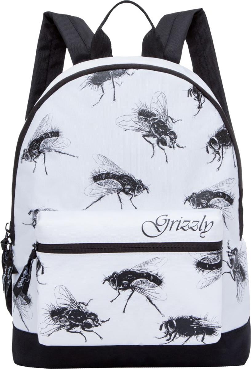 Рюкзак Grizzly, цвет: белый. RL-855-1/1 рюкзак молодежный grizzly 7 л rl 859 2 1