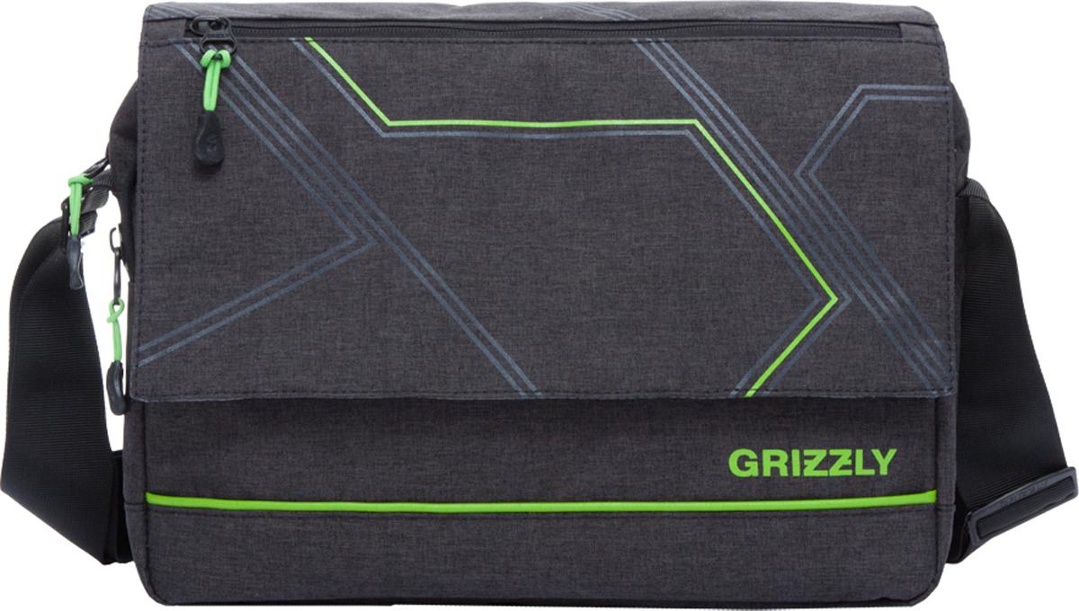 Сумка на плечо Grizzly, цвет: черный. MM-805-4/2
