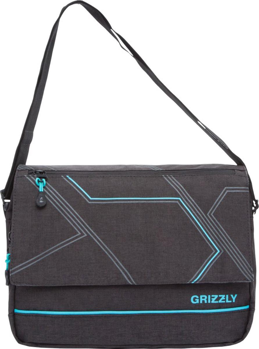 Сумка на плечо Grizzly, цвет: черный. MM-805-4/3