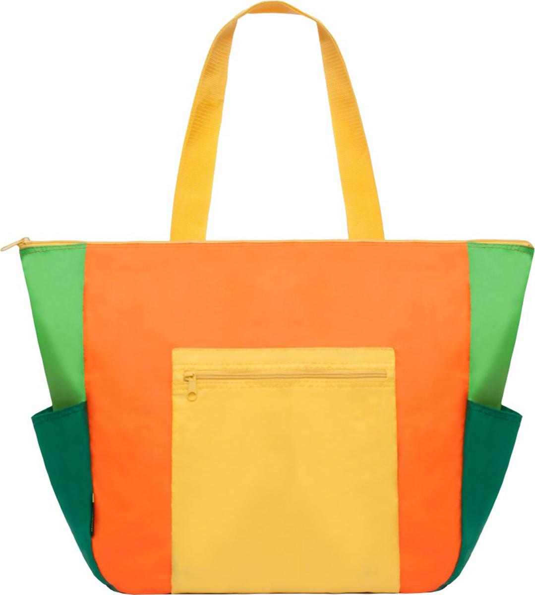 Пляжная сумка Grizzly, цвет: оранжевый. MD-845-2/2