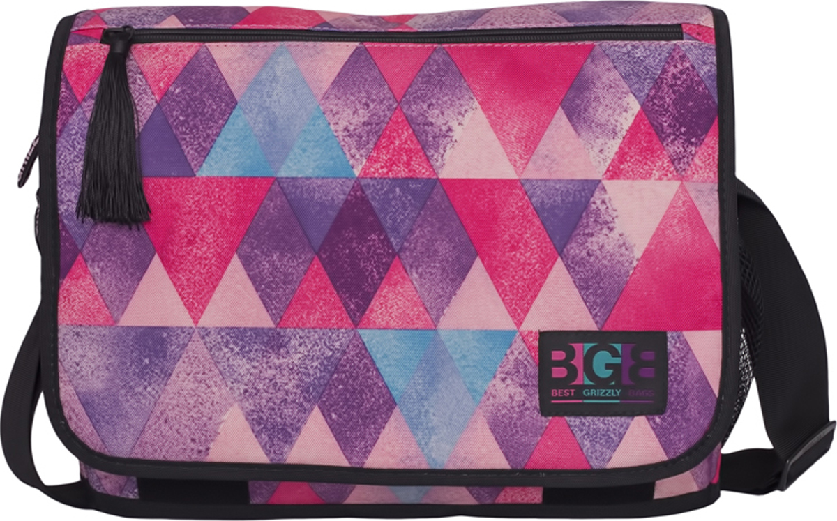 Сумка на плечо Grizzly, цвет: розовый. MD-855-6/2 стоимость